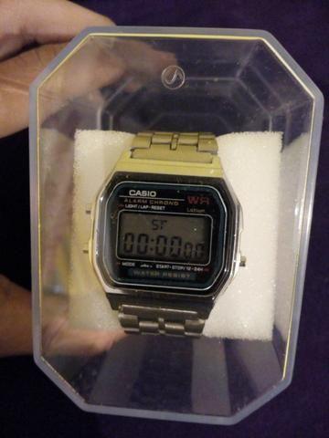 fffa4e5c5e8 Relógio Casio Prata Aço Novo - Bijouterias
