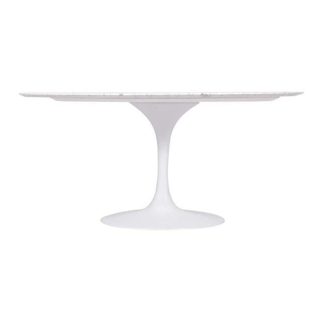 Mesa Saarinen Oval - Carrara 1.20 x 0.80 - Foto 4