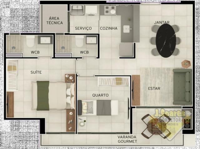 Apartamento 2 Quartos para Venda em João Pessoa, Aeroclube, 2 dormitórios, 1 suíte, 2 banh - Foto 4