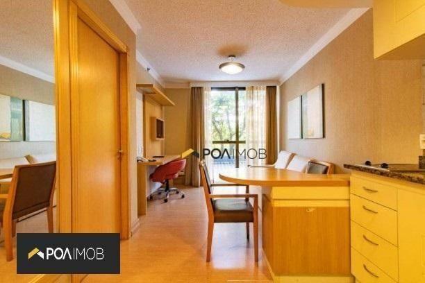 Apartamento mobiliado com 01 dormitório no Moinhos de Vento - Foto 2