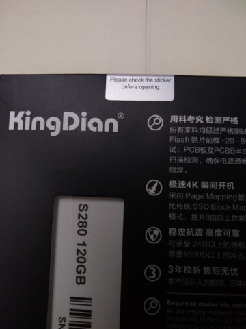 SSD Kingdian 120 GB - Foto 2