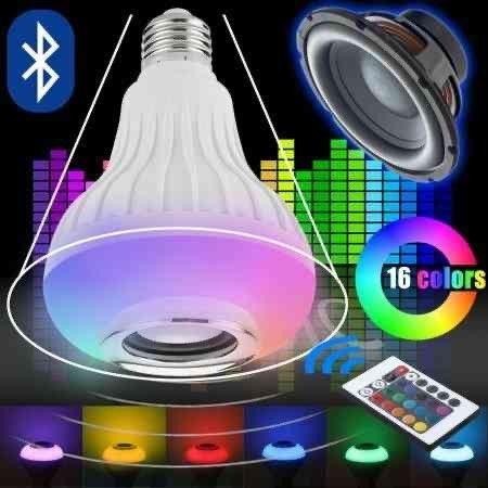 Lâmpada LED C/ MÚSICA