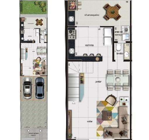 Casa duplex , 03 quartos, 04 vagas, 132,00 m², Bairro Itapoã. - Foto 4