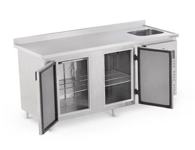 Balcão de Serviço Refrigerado com Cuba 2,0m e Espelho Refrimate - Wanderson - Foto 2