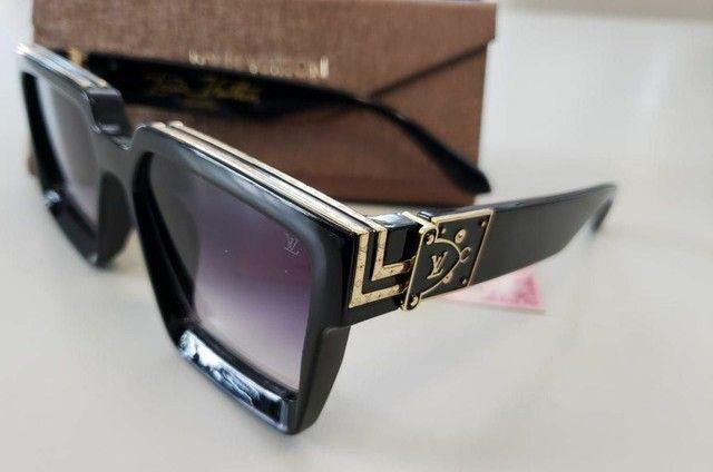 Óculos de Sol Louis Vuitton Millionaire + Case completa- Proteção uv  - Foto 2