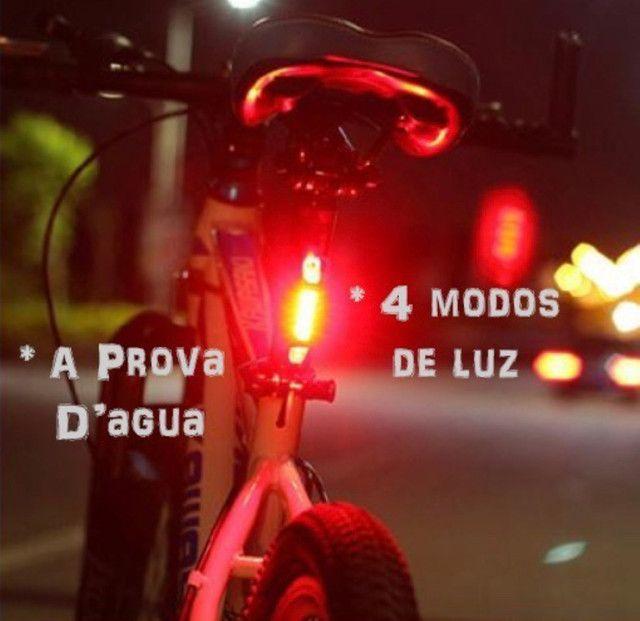 Lanterna Bike Recarregável Dianteira + Traseira - Foto 6