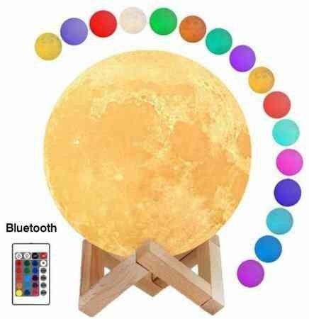 Nova Luminária Lua Multicolorida com tecnologia Bluetooth para ouvir suas músicas! - Foto 3