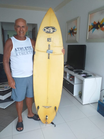 Linda prancha longboard com um dia de uso - Foto 2
