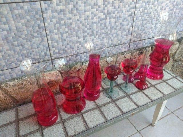 Vasos Em Vidro tipo Taça e Castiçal para Festa, Casamento e Flores - Foto 3