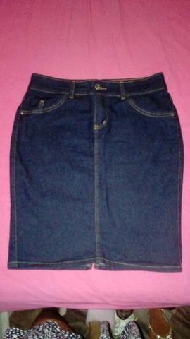 Saia Jeans de alta qualidade usada uma vez