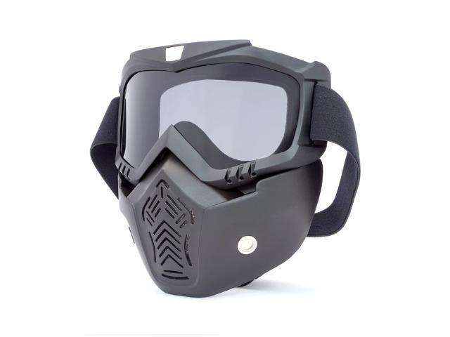 aa71af97bffdc Máscara De Proteção Com Óculos Removível Para Capacete Motos - Peças ...