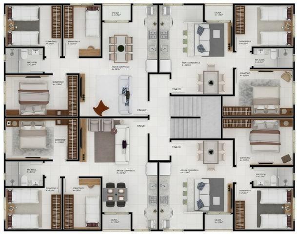 Apartamento de 2 dorm prox a imbralit A - Foto 5