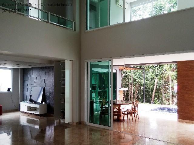 Linda casa pra venda ou locação - Alphaville Salvador 1. Lote diferenciado em parte alta.  - Foto 15