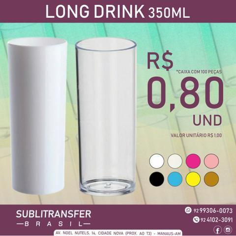 Copo Long Drink Liso Para Transfer a Laser