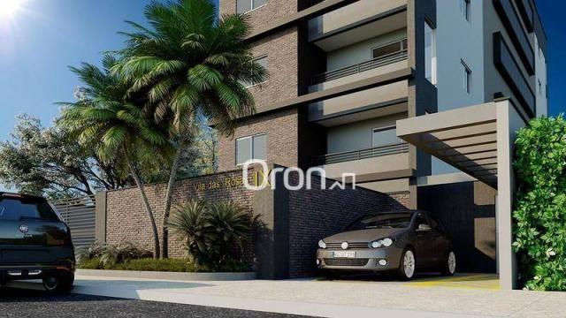 Apartamento com 2 dormitórios à venda, 58 m² por R$ 203.000,00 - Vila Rosa - Goiânia/GO - Foto 2