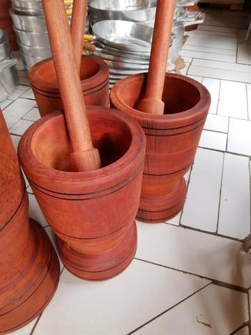 Pilão de madeira morapiranga