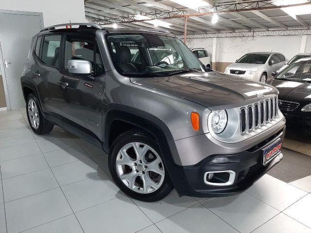 Jeep renegade automática limited 1.8 completo banco de couro único dono garantia fabrica - Foto 11