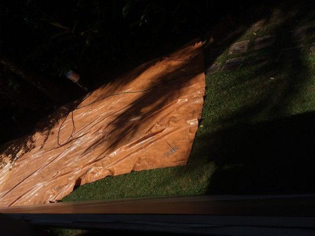 Lona grossa vinilona 500 micras sansuy 6 metros x 4 metros