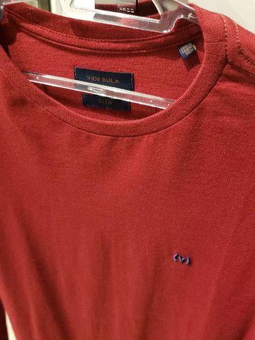 Camisa Vermelha Vide Bula - Foto 4