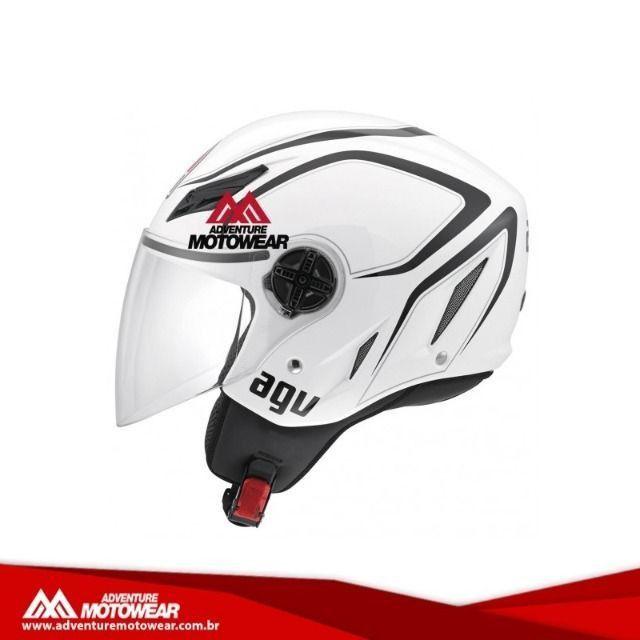 Capacete Agv Aberto Blade Tab Branco E Preto Motos Centro Niteroi 763519156 Olx