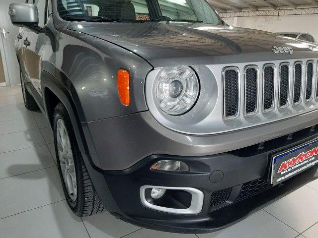 Jeep renegade automática limited 1.8 completo banco de couro único dono garantia fabrica - Foto 13