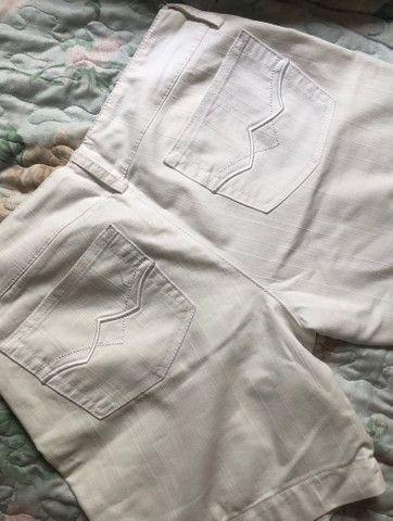 Bermuda jeans branco - Foto 2