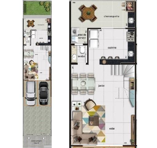 Casa duplex , 03 quartos, 04 vagas, 132,00 m², Bairro Itapoã. - Foto 5