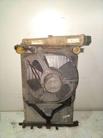 Kit radiador Uno com ventoinha e defletor