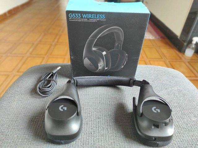 Hedset Logitech G533 Wireless Sem Fio