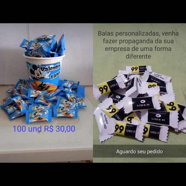 Balas personalizadas + Baldinho - Foto 2