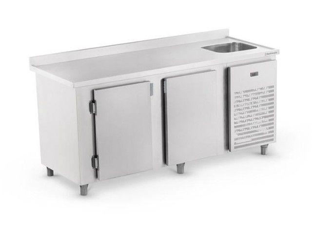Balcão de Serviço Refrigerado com Cuba 2,0m e Espelho Refrimate - Wanderson