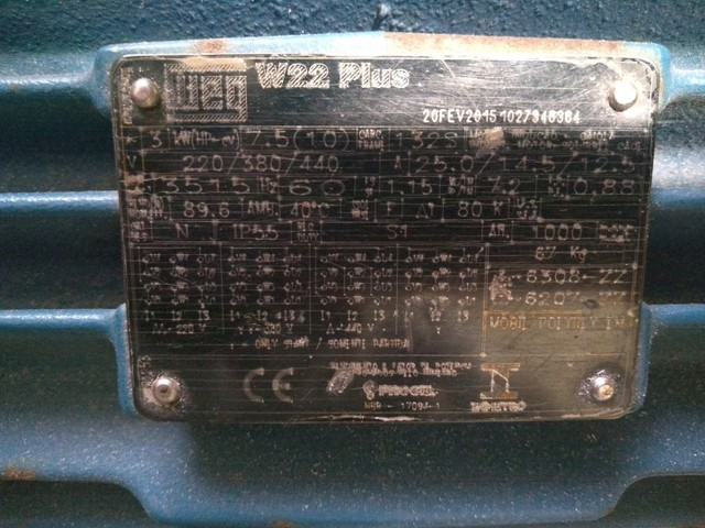 Motor Trifásico 10CV 3600RPM 220/380/440V WEG 2Pólos - Foto 4