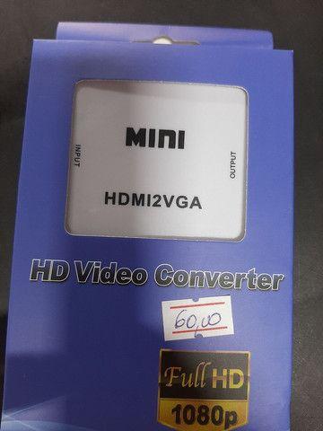 Adaptador VGA X HDMI  e HDMI X VGA  - Foto 2