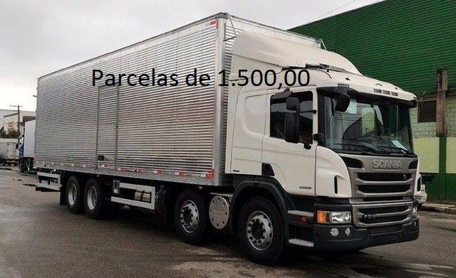 Scania P310 2014 8x2 Bitruck com Baú de Alumínio Entrada mais Parcelas e Contrato Serviço.