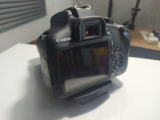 Câmera  Canon T6 + 2 lentes 18-55 e 50mm - Foto 5