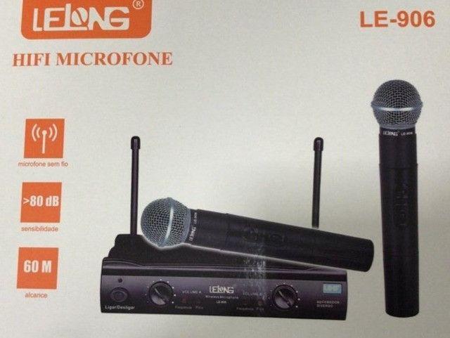 Microfone sem fio duplo - lelong
