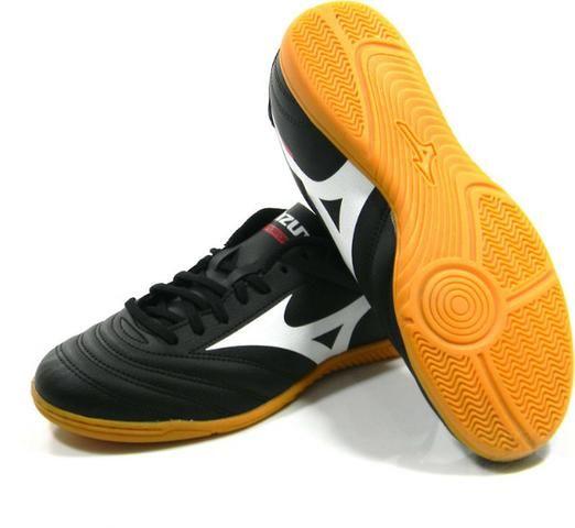 Tenis Mizuno Morelia Club Futsal pto bco tam  38-44 - Esportes e ... 7a4ef15a2fe73