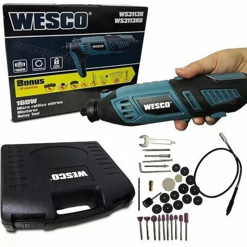 Micro Retifica 160w + 40 acessórios Wesco - Foto 2