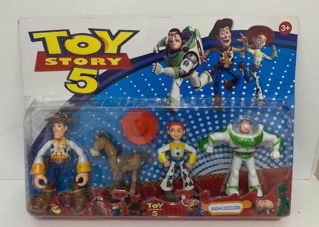 Toy Story 5 Com 4 Bonecos Kit Cartelado