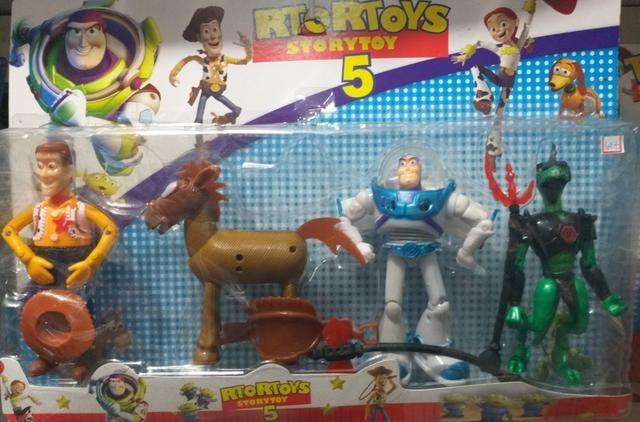 Toy Story 5 Com 4 Bonecos Kit Cartelado - Foto 5