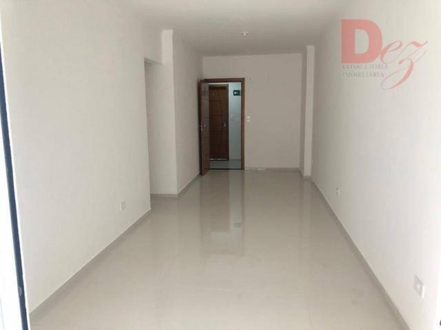 Apartamento com 2 dormitórios para alugar, 92 m² por r$ 2.200/mês - vila guilhermina - pra - Foto 4
