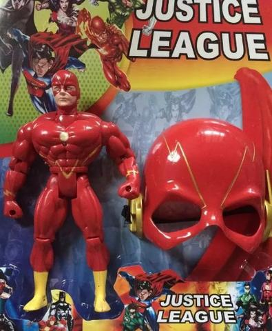 Boneco Flash Musical 25cm com Mascara Liga Da Justiça