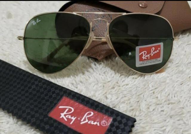 76d8caa95 PREÇO IMPERDÍVEL! Óculos de Sol Unissex Ray Ban Aviador! 100% Proteção  UV400!