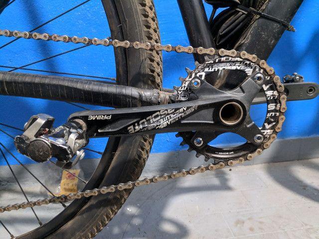 Bicicleta aro 29 aceito trocas passo cartão - Foto 2