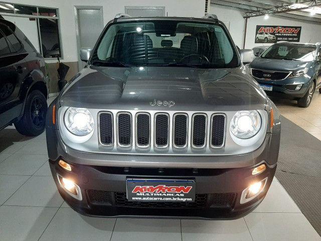 Jeep renegade automática limited 1.8 completo banco de couro único dono garantia fabrica - Foto 6