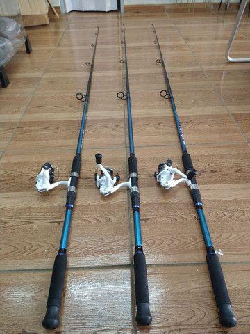 3-Kit para pescar de tilapias (varas firmes para pesca de batida e dedo duro )