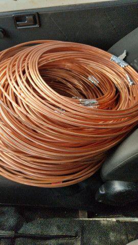 Tubulação de cobre ar condicionado