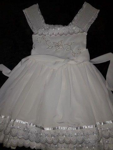 Vestido branco infantil semi novo