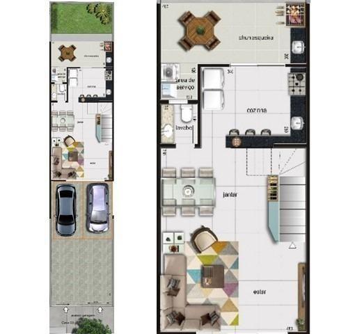 Casa duplex , 03 quartos, 04 vagas, 132,00 m², Bairro Itapoã. - Foto 6