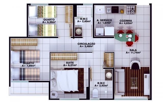 Apartamento à venda, 3 quartos, 1 suíte, 1 vaga, Uruguai - Teresina/PI - Foto 11